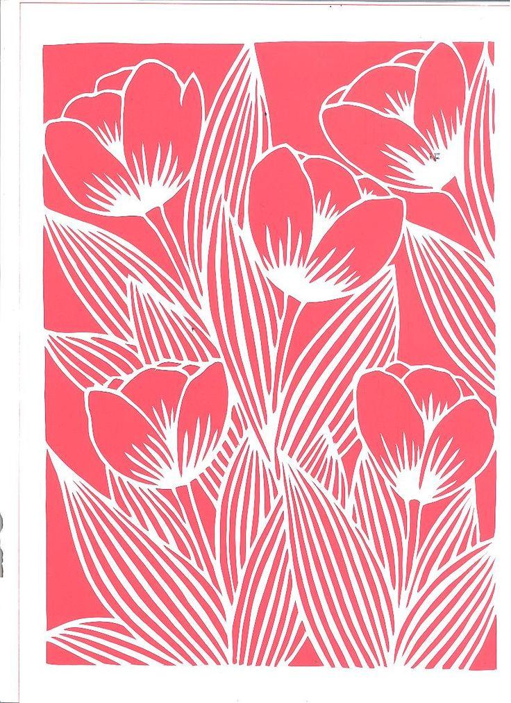 Lale tulip papercutart katı sayitkarabulut