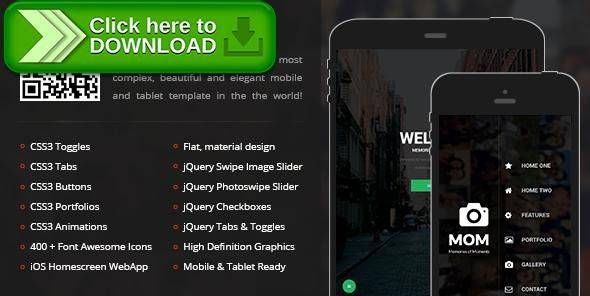 [ThemeForest]Free nulled download Mom Mobile | Mobile Template from http://zippyfile.download/f.php?id=22104 Tags: android, app, cordova, ios, iphone, mobile, mobile app, mobile template, phonegap, responsive, sidebar, swipe, tablet, template, touch