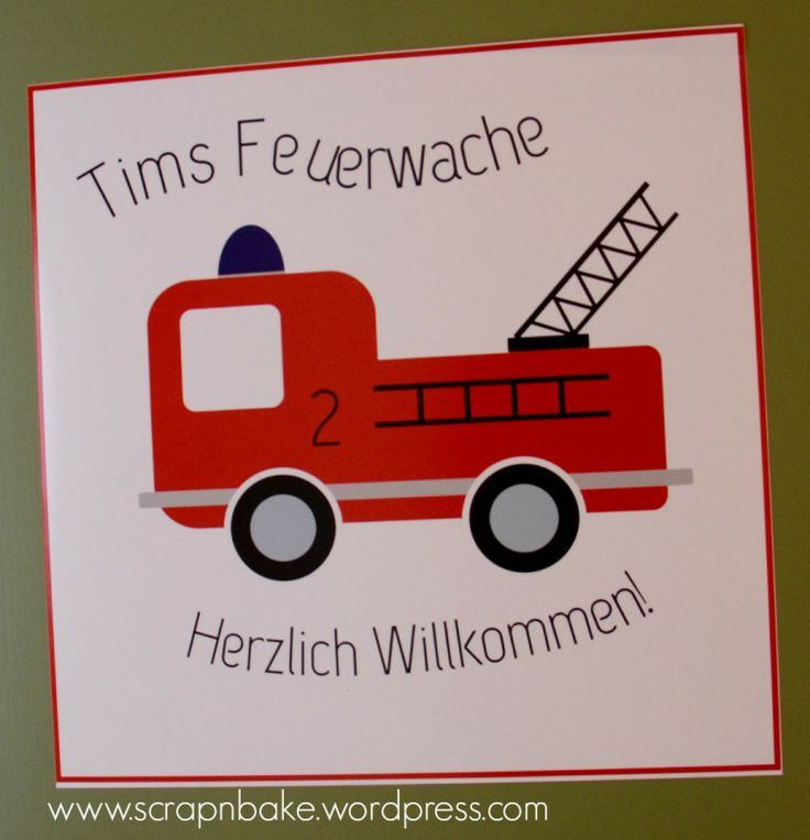 Feuerwehr - Party - Firetruck - Dekoration - Decoration