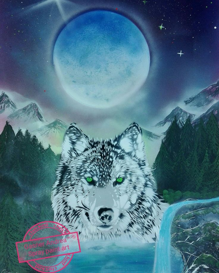 #wolf #spraypainting