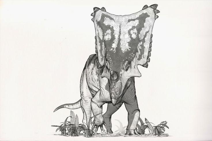 Draw Dinovember Day 6 Chasmosaurus, Raul Ramos