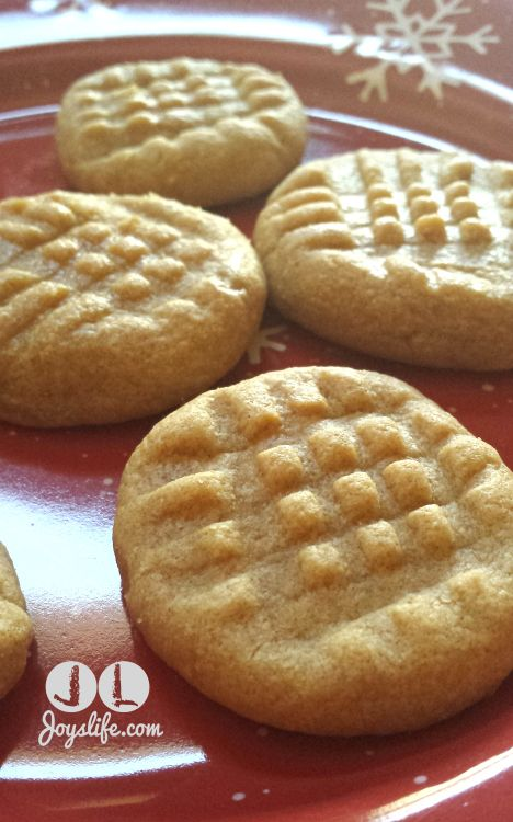 3 Ingredient No Flour Peanut Butter #Cookies #Recipe