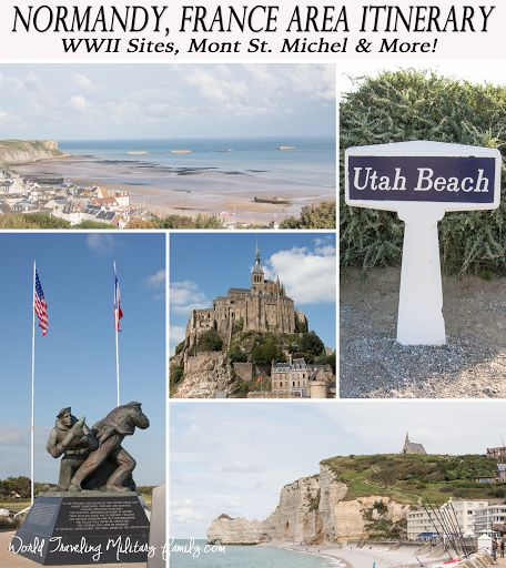 I'm excited to share our Normandy, France area itinerary today because this region of France SHOULD be on your bucket list! WWII D-Day sites, & more!