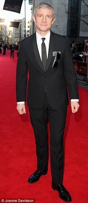 Martin Freeman showing the meaning of DAPPER to the world @ the Olivier Awards 2014
