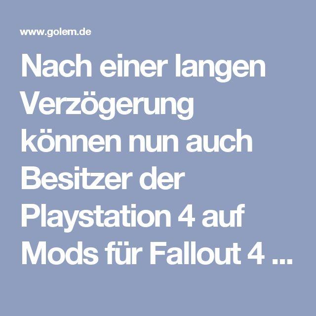 Nach einer langen Verzögerung können nun auch Besitzer der Playstation 4 auf Mods für Fallout 4 zurückgreifen - allerdings mit Einschränkungen. Außerdem teilte Bethesda mit, mit dem nächsten Update die PS4 Pro unterstützen zu wollen.  Das Entwicklerstudio Bethesda hat für sein Endzeit-Rollenspiel Fallout 4 nun das Update 1.8 für die Playstation 4 veröffentlicht. Damit bekommen Besitzer der Konsole laut den Patch Notes einen Zugriff auf Mods - bei der Fassung für Windows-PC und die Xbox One…
