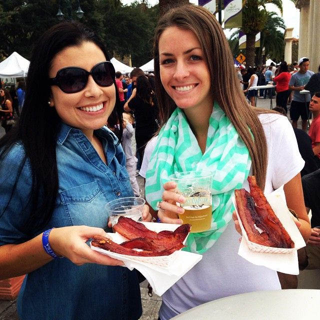 """<b> Beer and Bacon Festival: January 28</b><br><i> 204 E 4th St., Austin </i><br> The travelling Beer and Bacon Festival is making a stop in Texas. Enjoy craft beers and specialty bacon–based dishes during this untraditional food festival. In case you needed another reason to check out this event, there's deep fried bacon. <br> Photo via <a href=""""https://www.instagram.com/jessicaleeman7/"""">Instagram, jessicaleeman7</a>"""