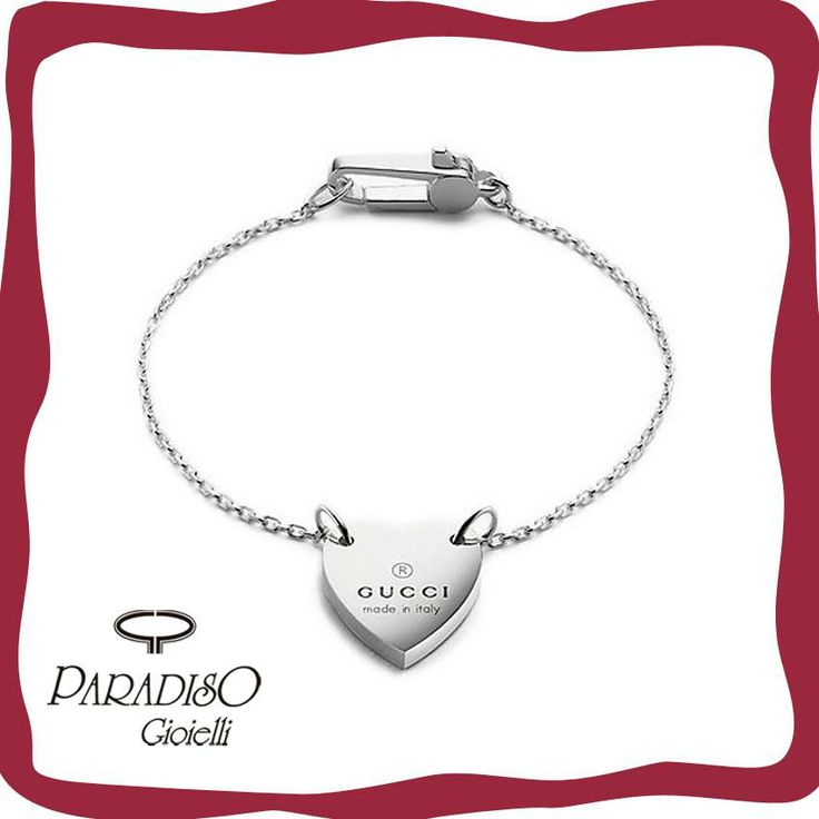 Esprimi il tuo #amore con il #regalo perfetto.  #Gucci #BraccialeTrademark disponibile #online. #Cuore #Love #SanValentino #Silver