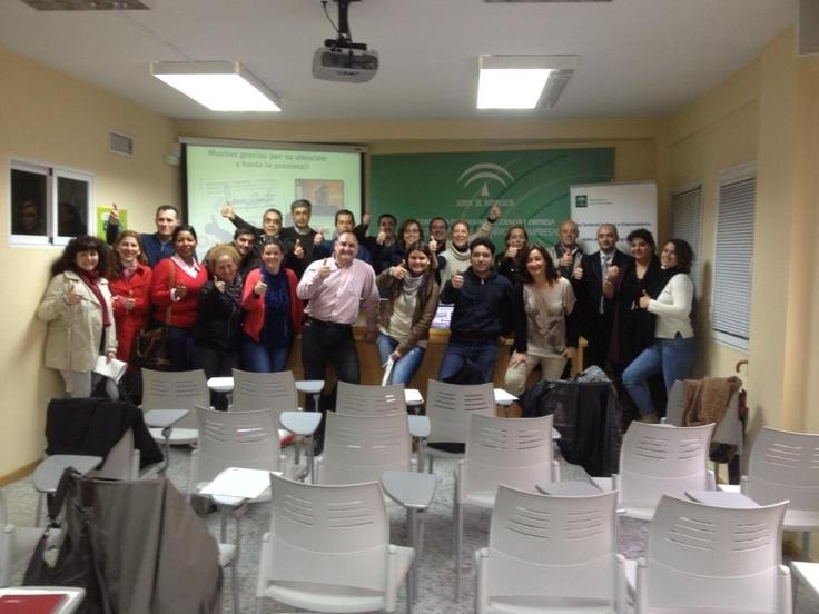 Al término de un curso sobre Marca Personal en el CADE de Jerez. Feb-2013
