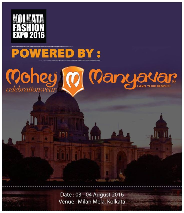 Catch fashion of the moment at @KolkataFashionExpo today and tomorrow. Powered by Manyavar & Mohey #CelebrationWear