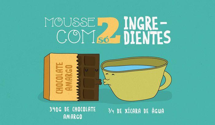 Que tal um mousse de chocolate com só 2 ingredientes: mixidao.com.br/receita-ilustrada-145-mousse-de-2-ingredientes/