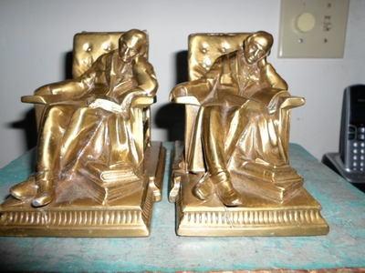 Antique P M Craftsman Sleeping Bookends   eBay