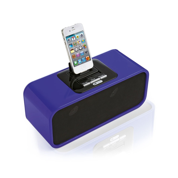 Super cute for a teenager's bedroom, this Acoustic Solutions dock holds iPhones and iPods. It also comes in this perfect blue colour from Argos.