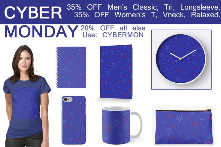 CYBER MONDAY SALES! Get 35% off Men's Classic, Tri, Longsleeve. Women's T, Vneck, Relaxed. 20% off all else USE: CYBERMON  #XmasGifts #xmasgifts #christamsgifts #homedecor #kidsroom #stars #walltapestry #mugs #totebags #kidsclothes #buykidstshirts #sales #discount #christmassales #salesgifts #buycoffeemugs #buykidsmug #milkandcookies #xmasclock #ChristmasMugs #ChristmasTotebags #homedecor #cybermonday #redbubble #scardesign #MerryChristmas #ChristmasShopping  #ChristmasStars #Xmasstars