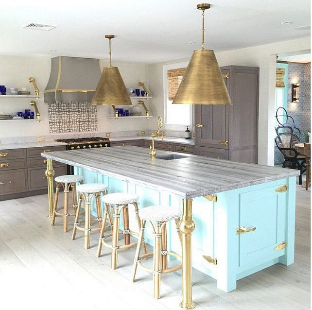 131 Best Beautiful Non-White Kitchens Images On Pinterest
