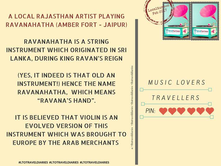 Ravana's hand found in #Rajasthan (music) ;) & Localturnon's trip to #Amber #Fort reveals d #secret !!