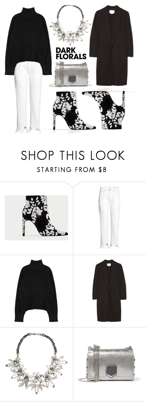 """""""Winter Prints: Dark Florals"""" by eva-jez ❤ liked on Polyvore featuring H&M, Alexander Wang, John Lewis, Jimmy Choo and darkflorals"""