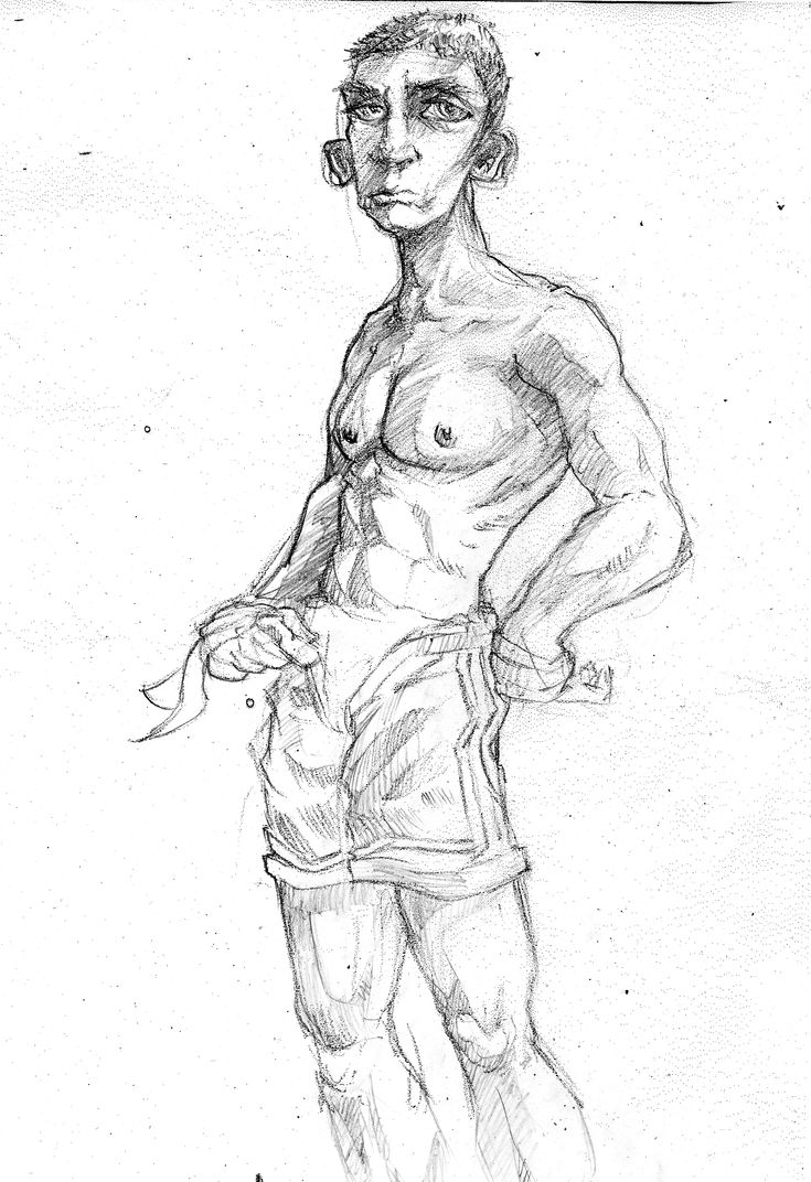 Paco's son(Thai boxer) sketch by grafmason...character design.