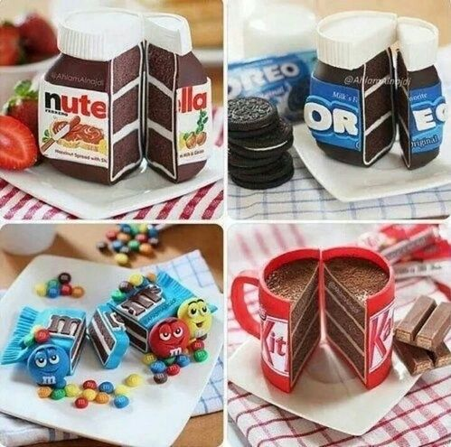 Ciekawe pomysły na tort #chocolate #nutella #m&m #kitman #oreo #tort