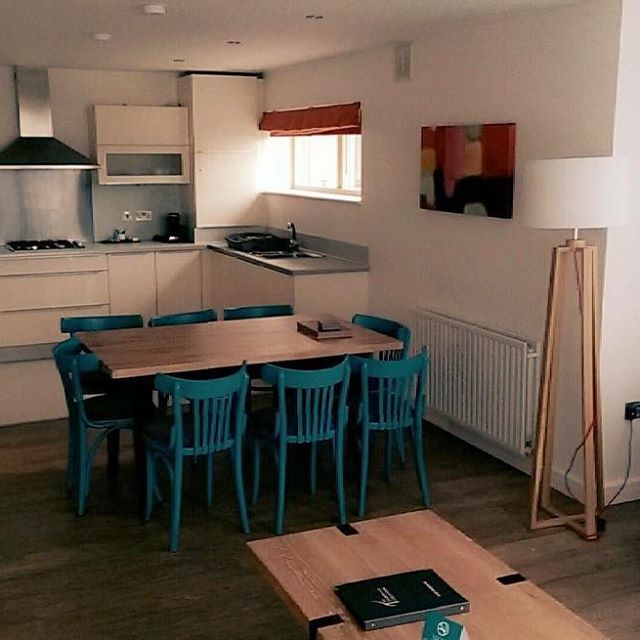 The kitchen and living areas in our 2 Bed Corner Courtyard Apartments are spacious and perfect for families. goo.gl/jCd2Yy #selfcatering #holiday #september #midterm #family #breaks #escapes #goldenescapes #golf #stays #girlie #getaways #wexford #kitchen #interiors #shortterm #staycation