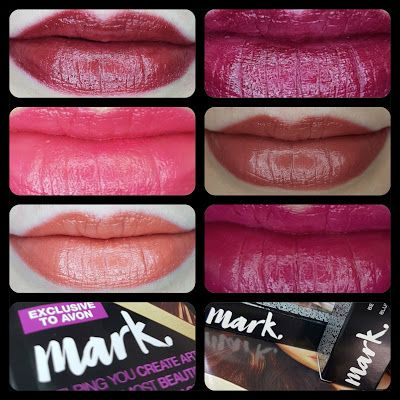 Avon mark. 3D Plumping Lipsticks review and swatches