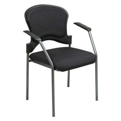 Office Star Visitors Chair With Arms And Upholstered Contour Back Anium 82710 30