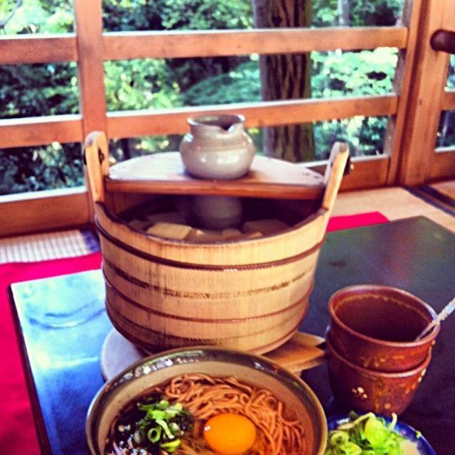 レシピとお料理がひらめくSnapDish - 53件のもぐもぐ - 湯豆腐と月見そば by tayuko