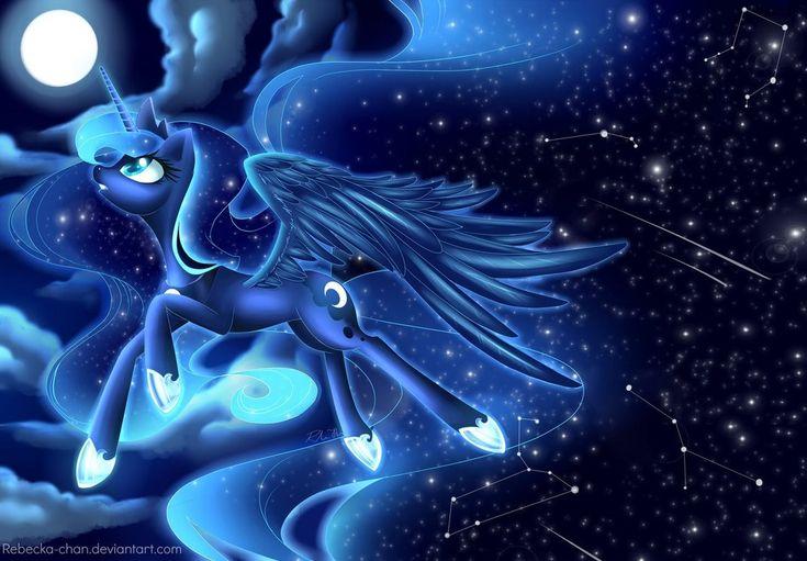 Princess Luna by *Rebecka-chan on deviantART