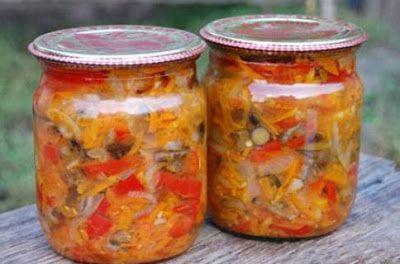 Салат с грибами и овощами...