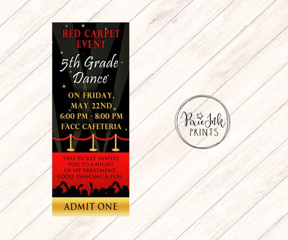 19 best Prom Invitations, School Dance Invitations images on - prom tickets design
