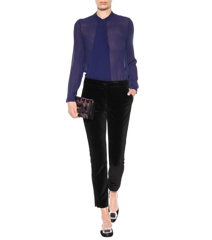 mytheresa.com - Ballerine Chips in satin di seta con strass - Scarpe - Luxury Fashion for Women / Designer clothing, shoes, bags