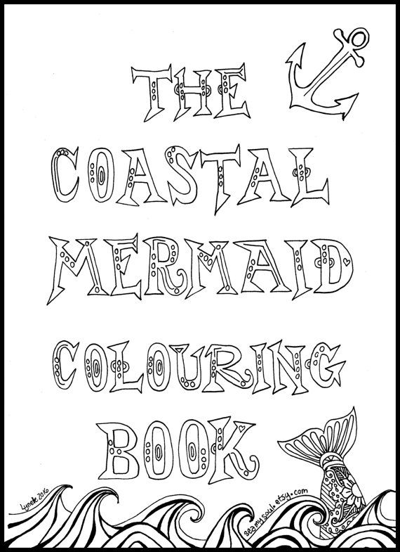Coastal Mermaid Adult Coloring Book Colouring Book by SeaMySoul