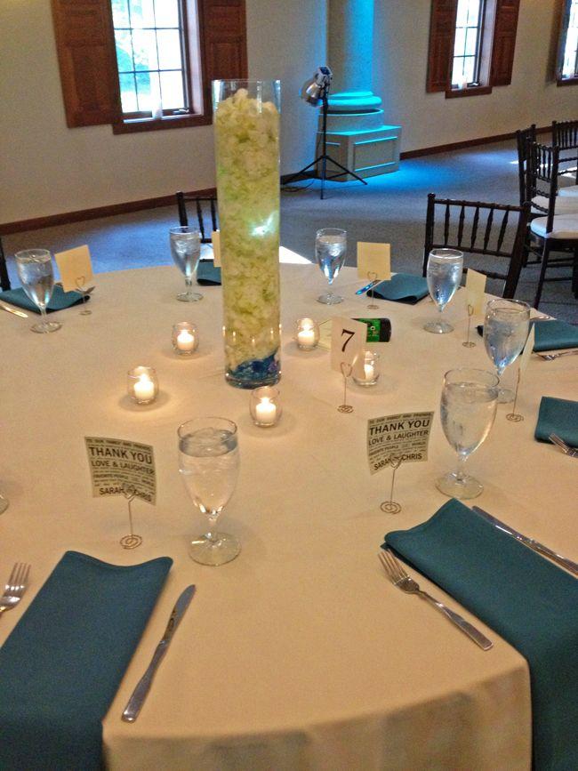 Hydrangea And Votives At Brookshire Columbus Ohio Wedding Reception Venues