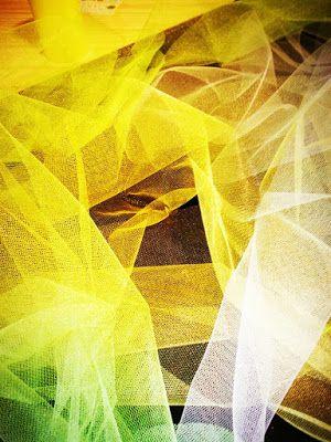 Diary of Rainbows: Lemonade, Limeade tulle, art, yellow