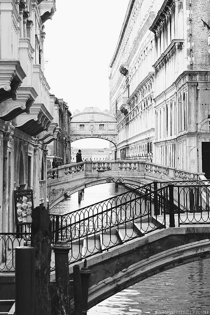 The bridge of sighs in Venice, prisoners would stop here to look out over the water before going into prison