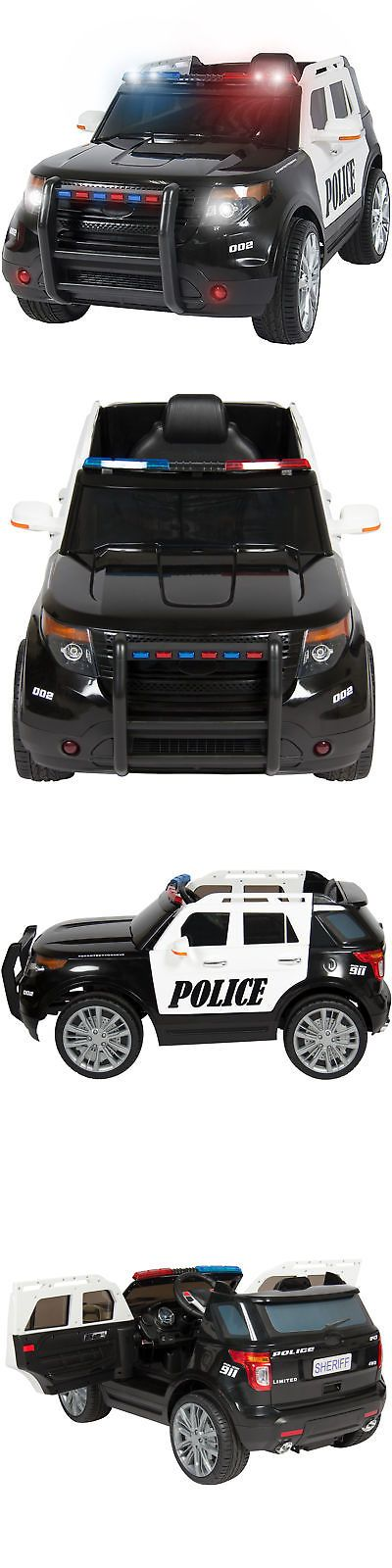 Ride On Toys and Accessories 145944: 12V Ride On Car Police Car W Remote Control, 2 Speeds, Led Lights -> BUY IT NOW ONLY: $234.99 on eBay!