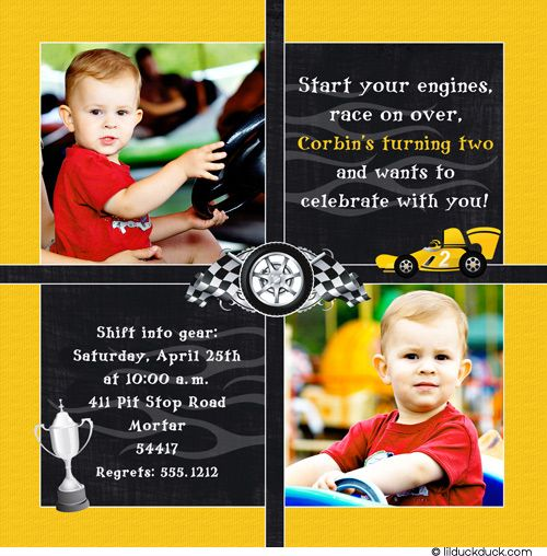 Race Car Themed Parties