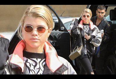 Sofia Richie steps out for lunch in Malibu with Zayn Malik lookalike