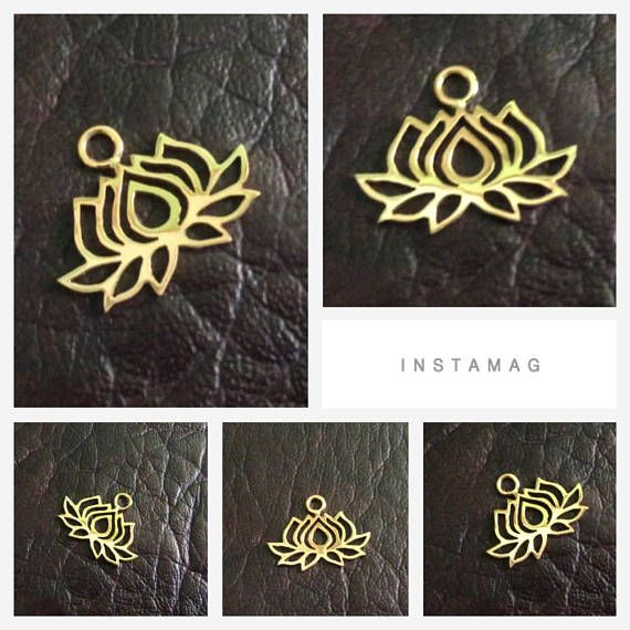 PRODUCT INFO:  Item code: CH557140 Name item: silver Lotus charm 19.45 x 15 mm with jumpring Full Name: 925 sterling silver Lotus charm 19.45 x 15 mm with jumpring available in sterling silver & vermeil Fabrication method: Handmade each item cut individually Style: Lotus Charm Dimension: 19.45 x 15 mm Tightness: 0.90 mm Rings/Loop inside dia.: jumpring 0.75 x 2.5 mm inside dia. Clusters/Balls/Accents: None Approximate weight for 6 pieces: 4.32 gram Country of origin: Indone...