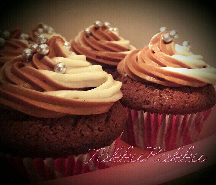 Vanilla & chokolade cupcakes