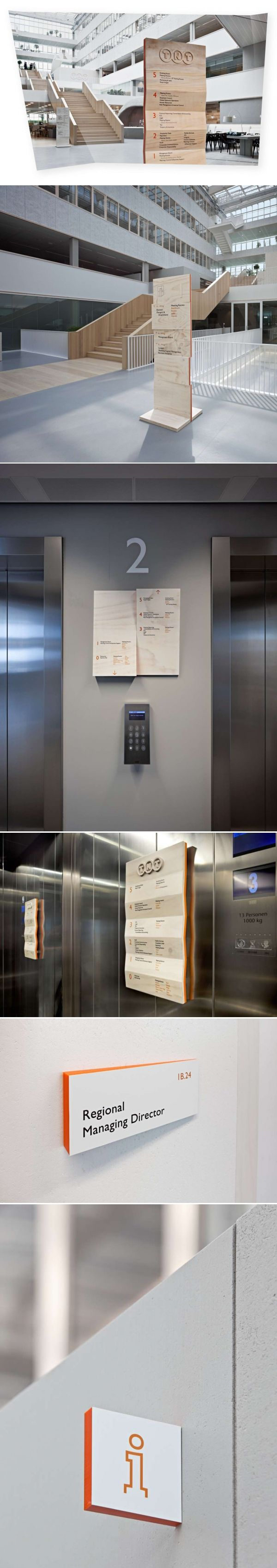Wayfinding system at TNT green office