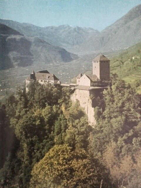 Slot Tirol bij Meran, Zuid-Tirol, Italie