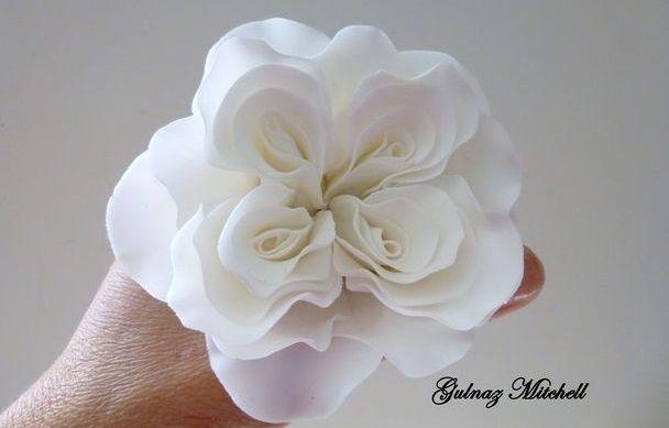 David Austen rose tutorial sugar flower tutorial by Gulnaz Mitchell