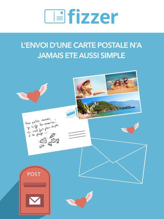 Fizzer - Carte Postale personnalisée avec photos par FIZZER   Carte postale, Carte postale photo ...