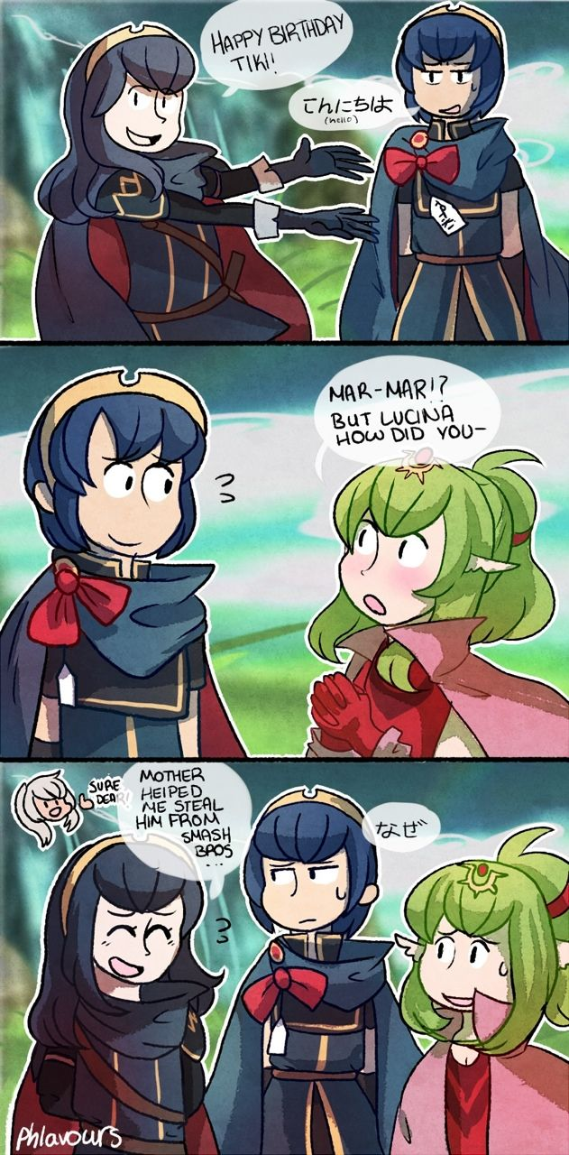 I wish this could happen in game if you get the Marth amiibo