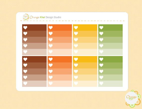 Thanksgiving Ombre Checkboxes Thanksgiving Planner Stickers