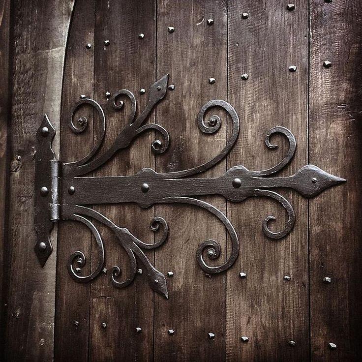 "gofannonforge: ""Medieval style door hinges #blacksmith #medieval #gothic…"