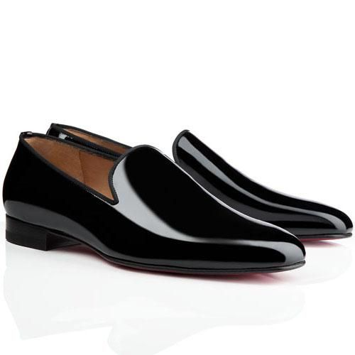 Find this Pin and more on C.Louboutin shoes. Cheap Christian Louboutin  Henri Men\u0027s Flat Patent Leather Sneakers Black Red Sole ...