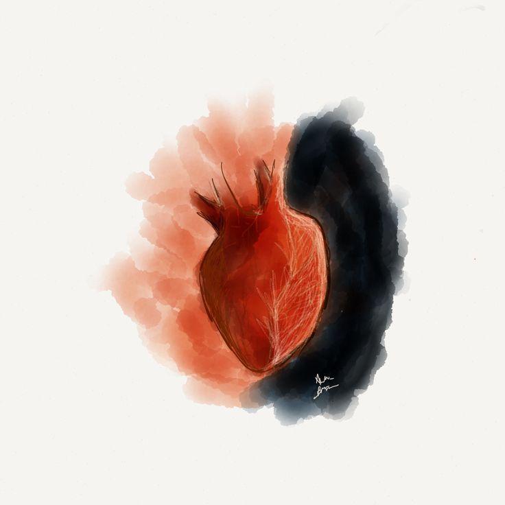 Heart - Fifththree paper - IpadAir - create by Andrea Brisciano
