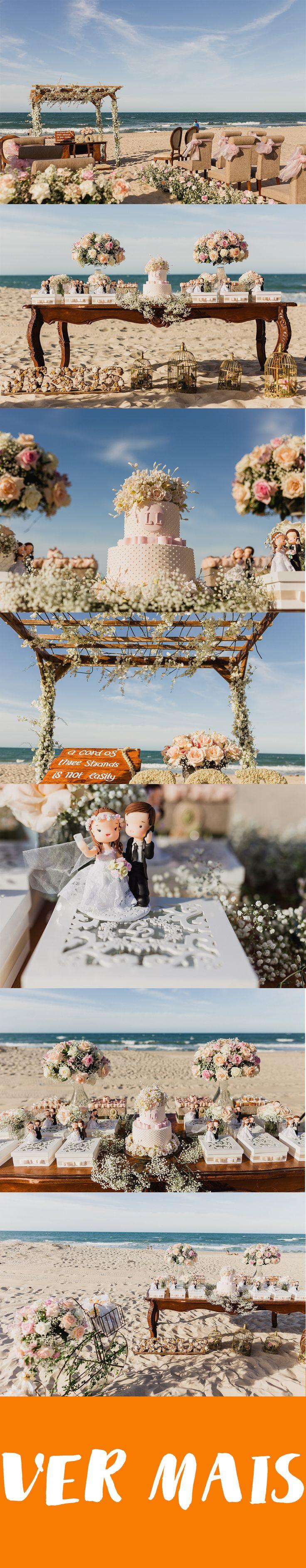 Ideias de decoração para casamento na praia. Inspiração para decorar casamento na praia. Fotos de decor para casório.