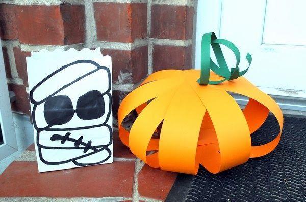 Zucca di carta #halloween #lowcostidea